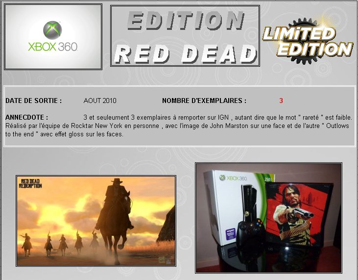 XBOX 360 : Edition RED DEAD REDEMPTION Red0110