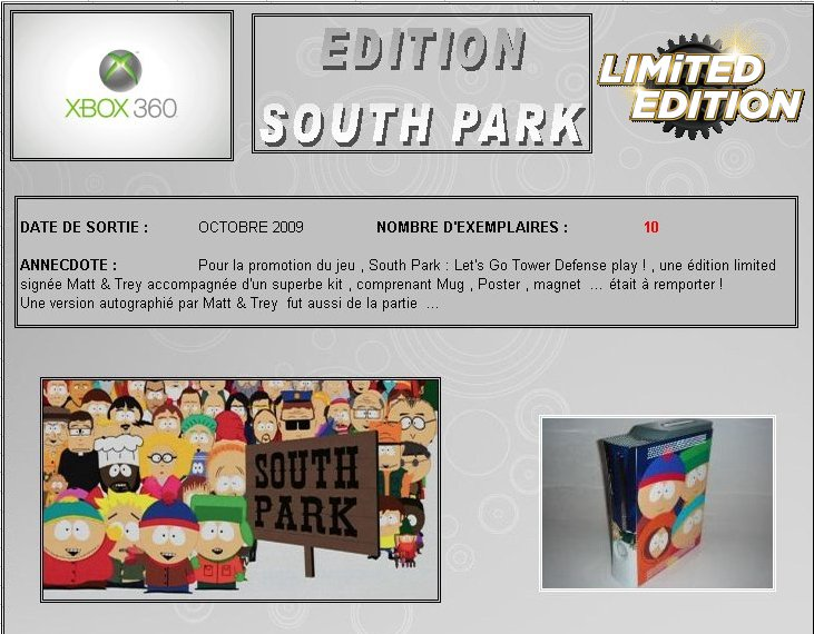 XBOX 360 : Edition SOUTH PARK South_10