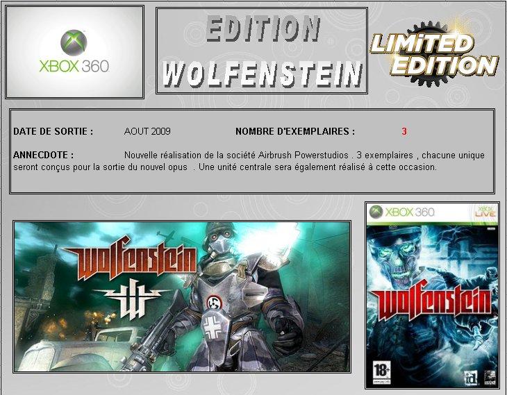 XBOX 360 : Edition WOLFENSTEIN Wolfen10