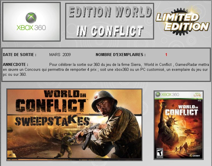 XBOX 360 : Edition WORLD IN CONFLICT World_10