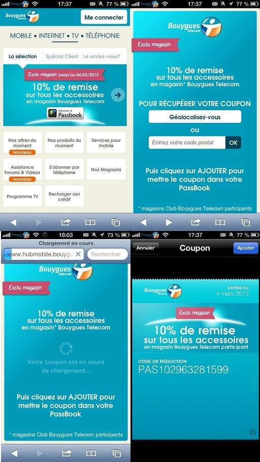 Bon plan: Avec Passbook et Bouygues Telecom. Pb110