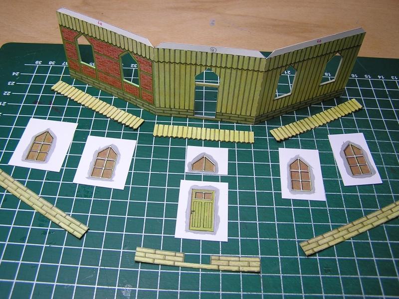 Bedarfshaltestelle Süßenmühle von Schreiber-Bogen in H0 - leicht aufgepeppt 1018