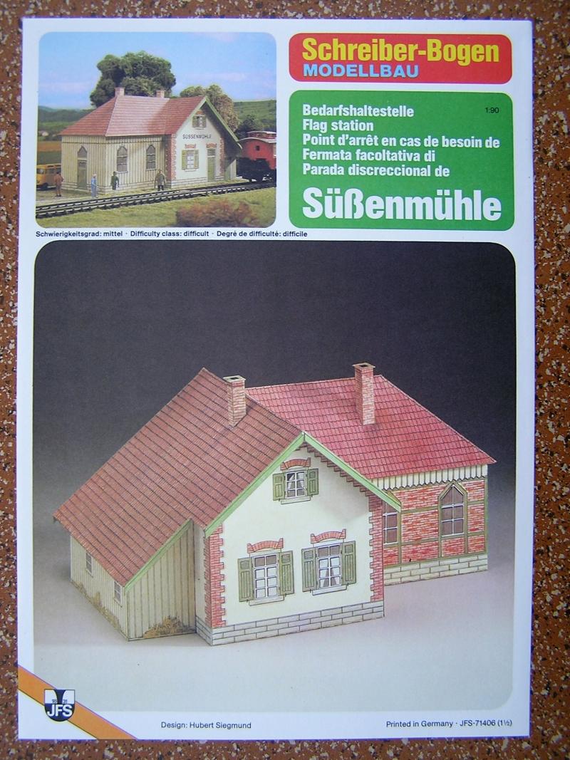Bedarfshaltestelle Süßenmühle von Schreiber-Bogen in H0 - leicht aufgepeppt 121