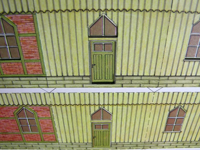 Bedarfshaltestelle Süßenmühle von Schreiber-Bogen in H0 - leicht aufgepeppt 1217