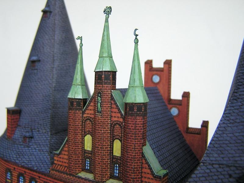 Holstentor Lübeck, 1:160, Schreiber-Bogen 13a10