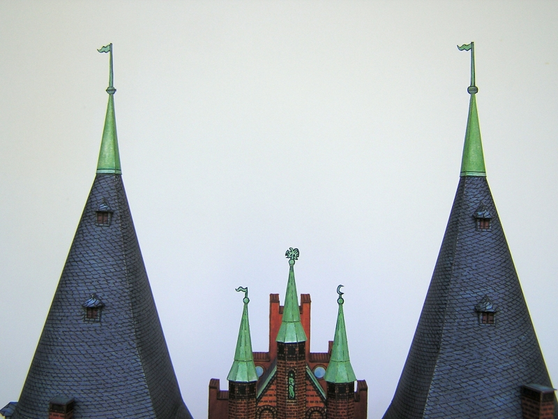 Holstentor Lübeck, 1:160, Schreiber-Bogen 1418