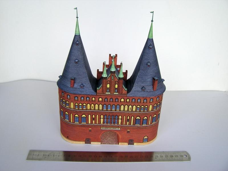 Holstentor Lübeck, 1:160, Schreiber-Bogen 1719
