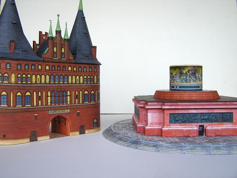 Holstentor Lübeck, 1:160, Schreiber-Bogen 1819