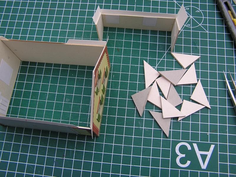 Bedarfshaltestelle Süßenmühle von Schreiber-Bogen in H0 - leicht aufgepeppt 2117