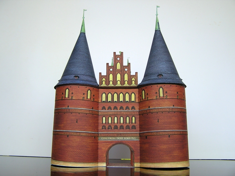 Holstentor Lübeck, 1:160, Schreiber-Bogen 223