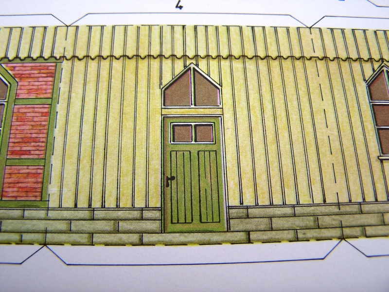 Bedarfshaltestelle Süßenmühle von Schreiber-Bogen in H0 - leicht aufgepeppt 416
