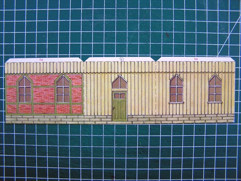 Bedarfshaltestelle Süßenmühle von Schreiber-Bogen in H0 - leicht aufgepeppt 719