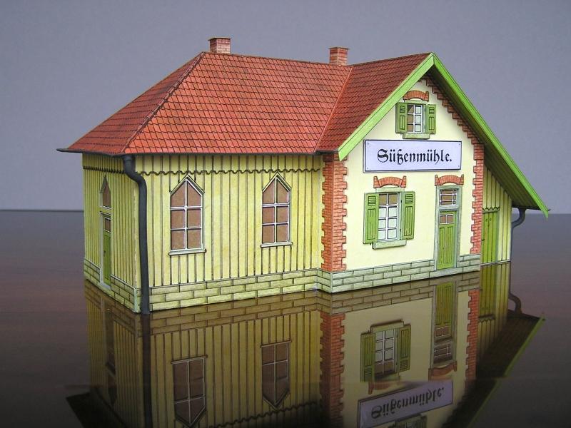 Bedarfshaltestelle Süßenmühle von Schreiber-Bogen in H0 - leicht aufgepeppt - Seite 2 7511