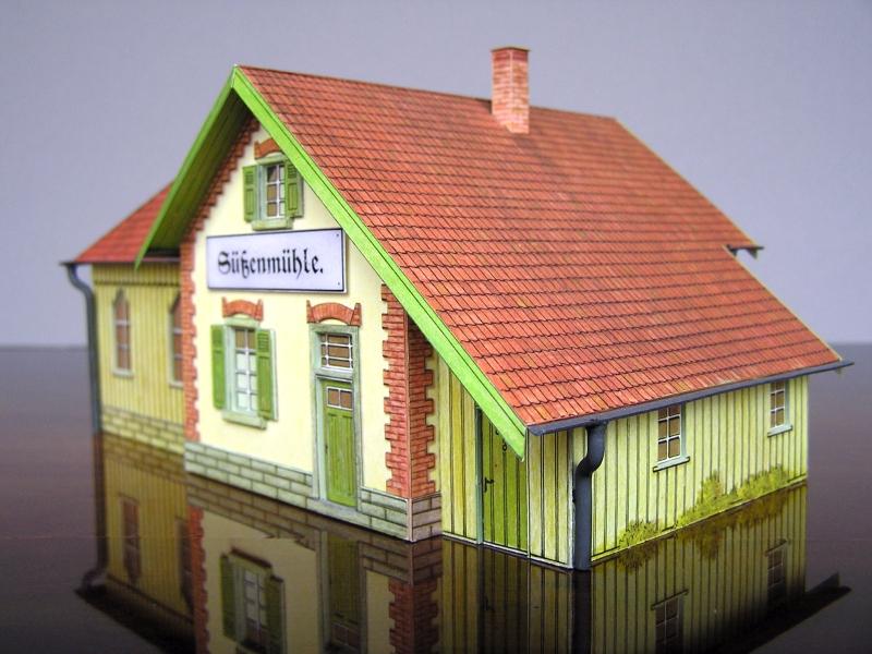 Bedarfshaltestelle Süßenmühle von Schreiber-Bogen in H0 - leicht aufgepeppt - Seite 2 7811