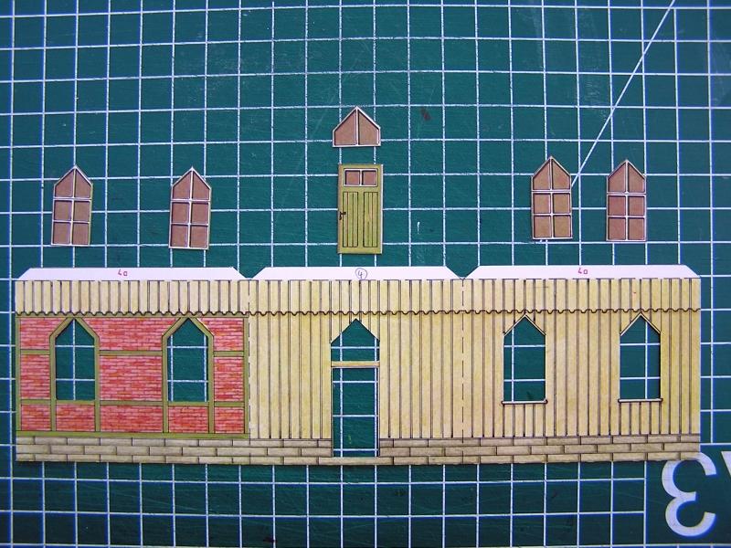 Bedarfshaltestelle Süßenmühle von Schreiber-Bogen in H0 - leicht aufgepeppt 818