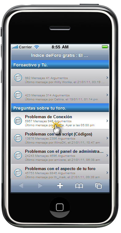 Versión móvil de los foros Foroactivo  Maj_ip10