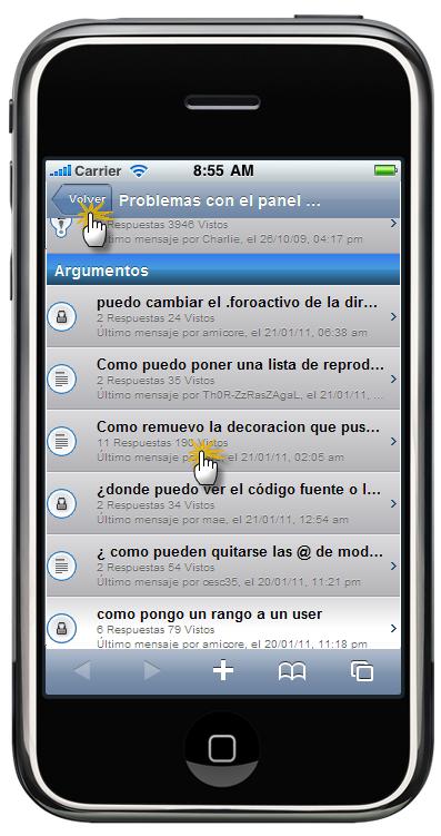 Versión móvil de los foros Foroactivo  Maj_ip11