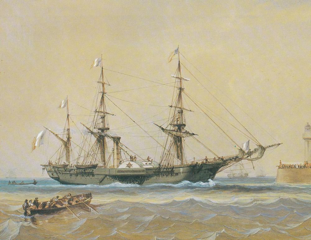 """Frégate à roues """"La Caraïbe"""" perdue en janvier 1847. Canada10"""