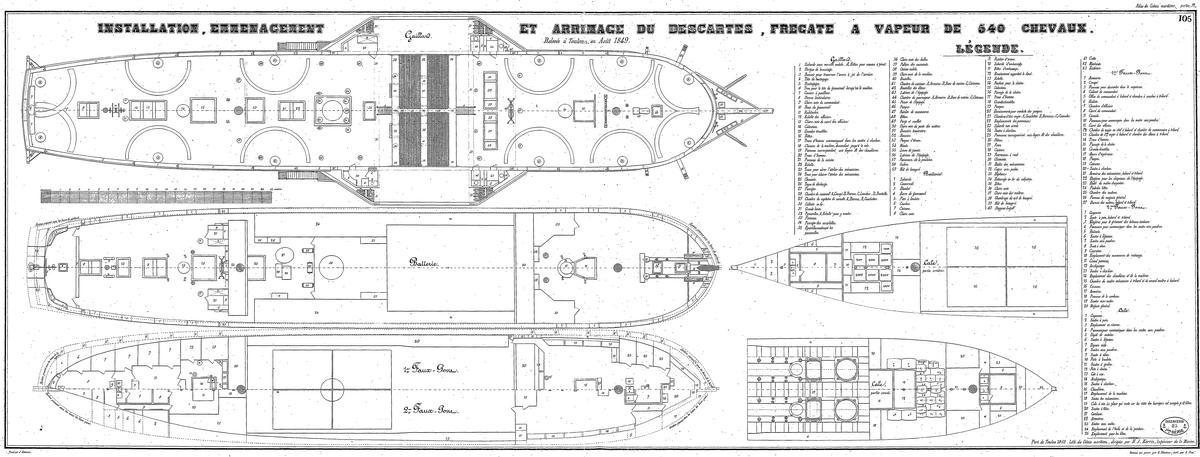 """Frégate à roues """"La Caraïbe"""" perdue en janvier 1847. Descar12"""