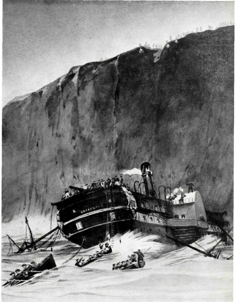 """Frégate à roues """"La Caraïbe"""" perdue en janvier 1847. Groenl10"""