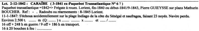 """Frégate à roues """"La Caraïbe"""" perdue en janvier 1847. Img_2011"""