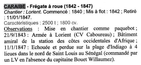 """Frégate à roues """"La Caraïbe"""" perdue en janvier 1847. Img_2012"""