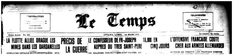 1915 - Frontenac Trianon et autres publicités Entete10