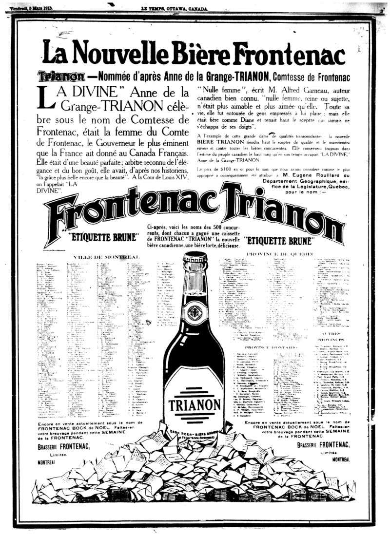 1915 - Frontenac Trianon et autres publicités Fronte10
