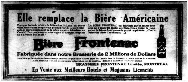 1915 - Frontenac Trianon et autres publicités Fronte15