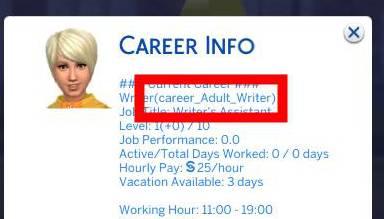 Certain career cheats aren't working anymore Career11
