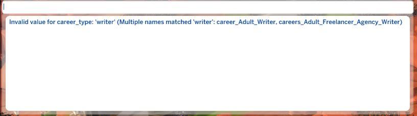 Certain career cheats aren't working anymore Career12