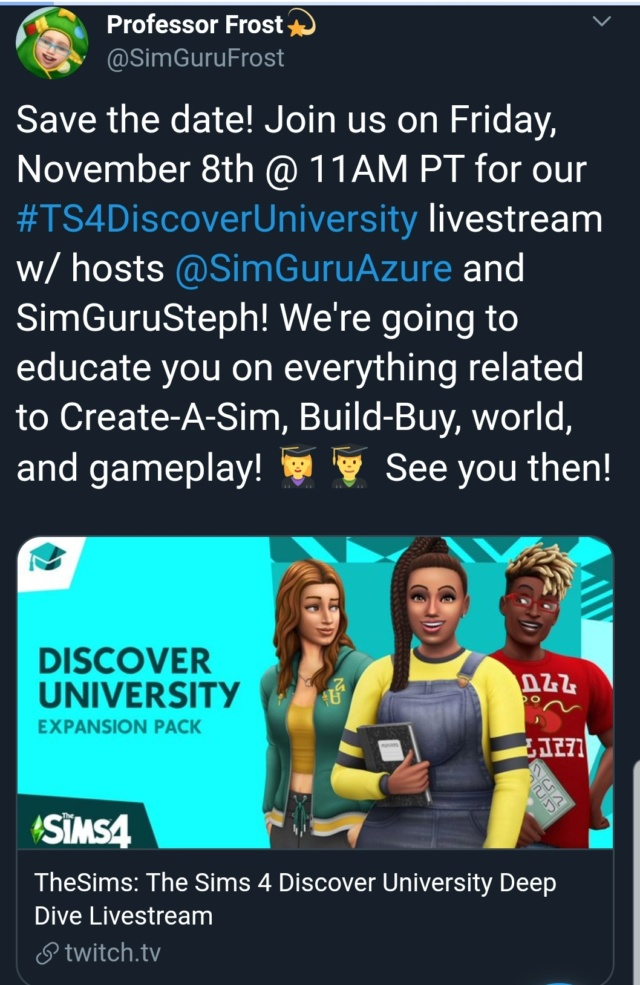The Sims 4™ Discover University: Official Reveal Trailer  Scree140