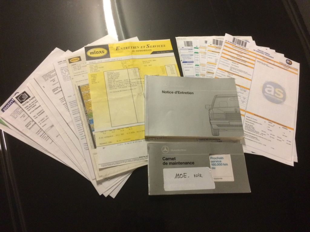 [A vendre] 190E 2.0 Superbe état, carnet et factures Img_6522