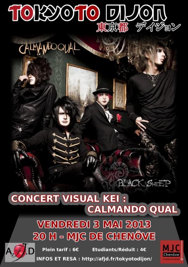 CALMANDO QUAL en concert à Dijon -rediffusion du concert en avril Affich10