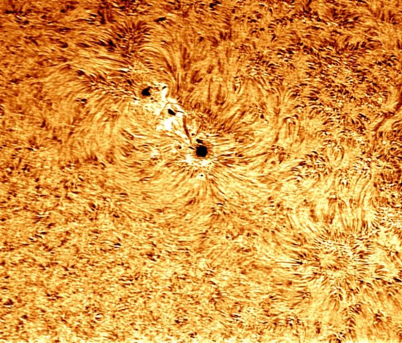 photo tache solaire du 16 février Sol110