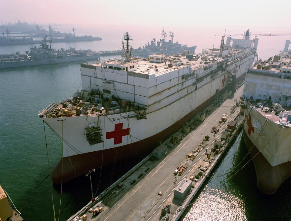 construction de navire hopital en Amérique  1310