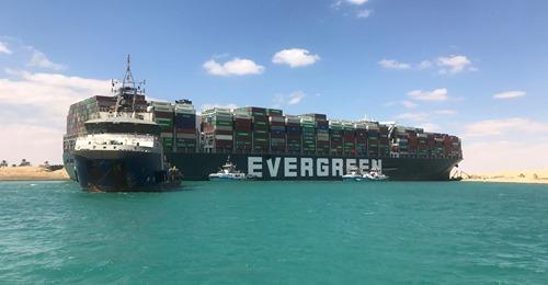Le canal de Suez bloqué par un porte-conteneurs géant ! 3293