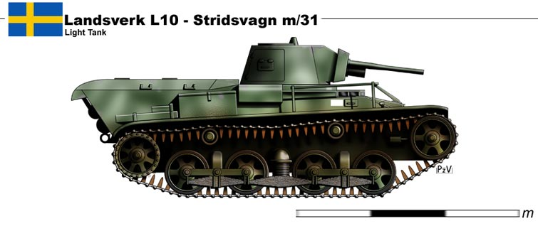 Le Stridsvagn M/31 M3110