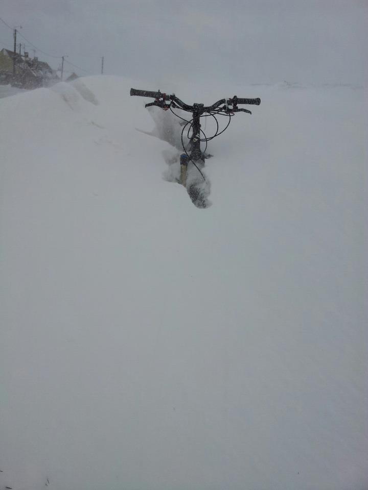 Même pas peur de la neige... Vtt110