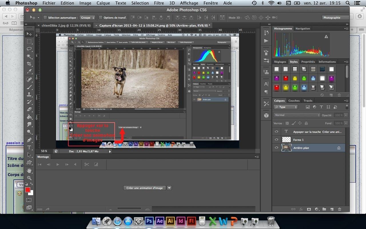 Tuto animation créer une bannière pub avec photoshop fichier gif Captur15