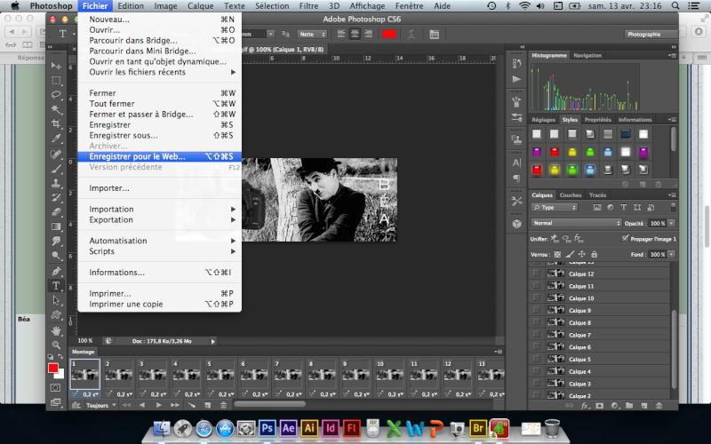 Tuto animation créer une bannière pub avec photoshop fichier gif - Page 2 Captur21