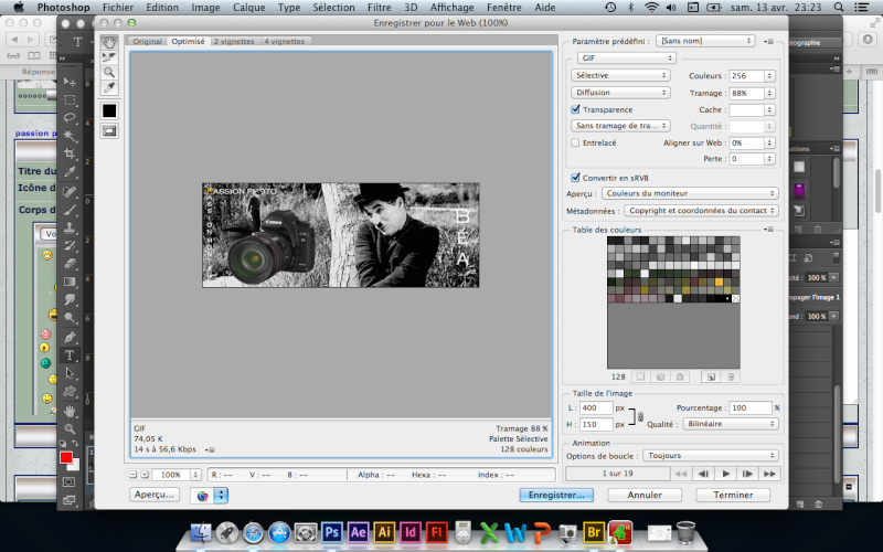 Tuto animation créer une bannière pub avec photoshop fichier gif - Page 2 Captur22