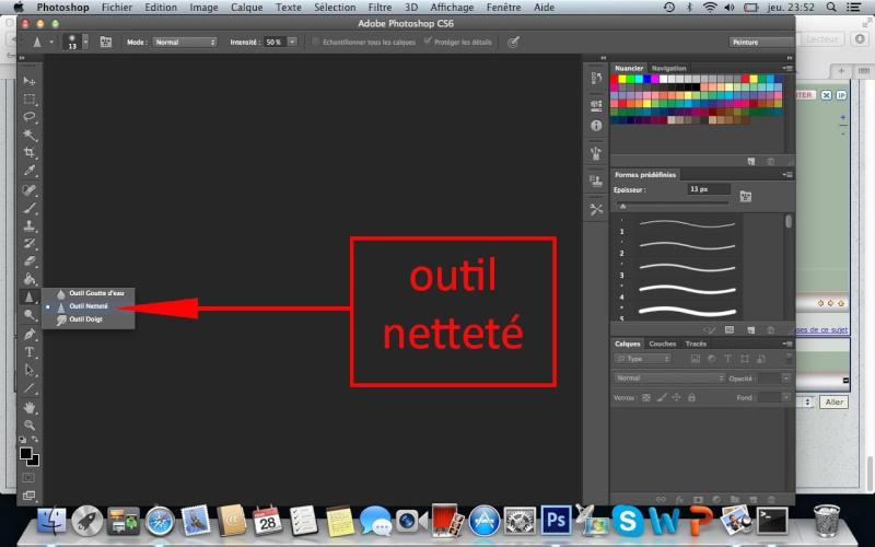 Appliquer un netteté sur un endroit précis de la photo. Outil_10