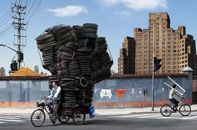 Китайским велосипедистам хотят создать комфортные условия Smeshn10