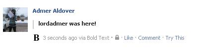 BOLD Text on Facebook. 212