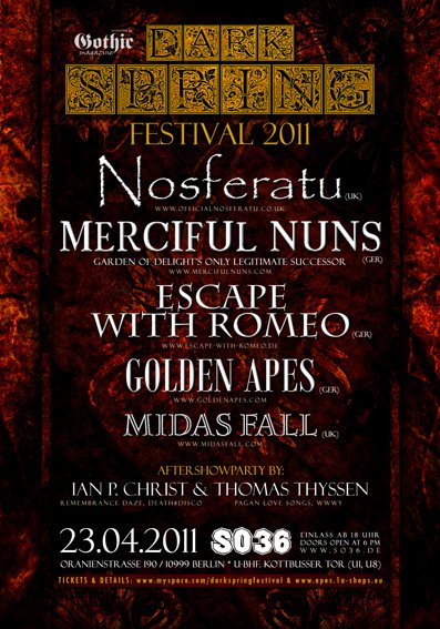 Merciful Nuns + Nosferatu - Berlin 23. april 2011 Roll call 63466110