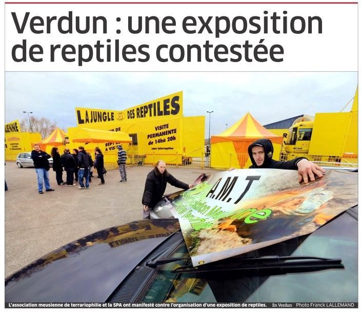 Manifestation contre les camions jaunes exposant des reptiles !! (Verdun L' Est Républicain) 1ere_p10