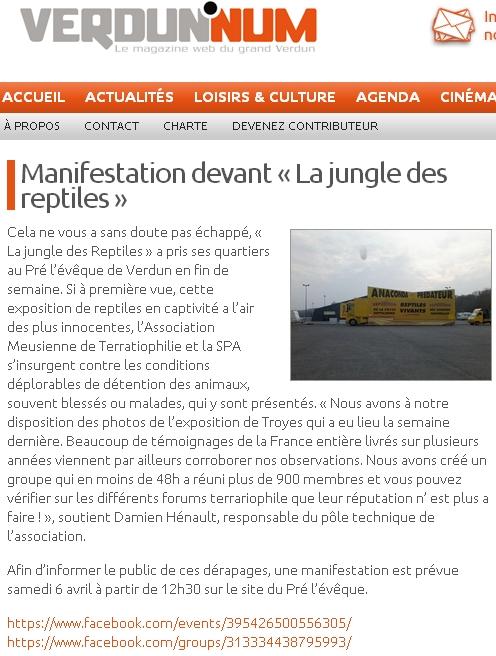 Manifestation contre les camions jaunes exposant des reptiles !! (Verdun Verdun'num) Verdun10