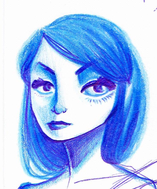 portrait crayons aqurellables pas trop symétrique encore ^^' |noony4] 57983710