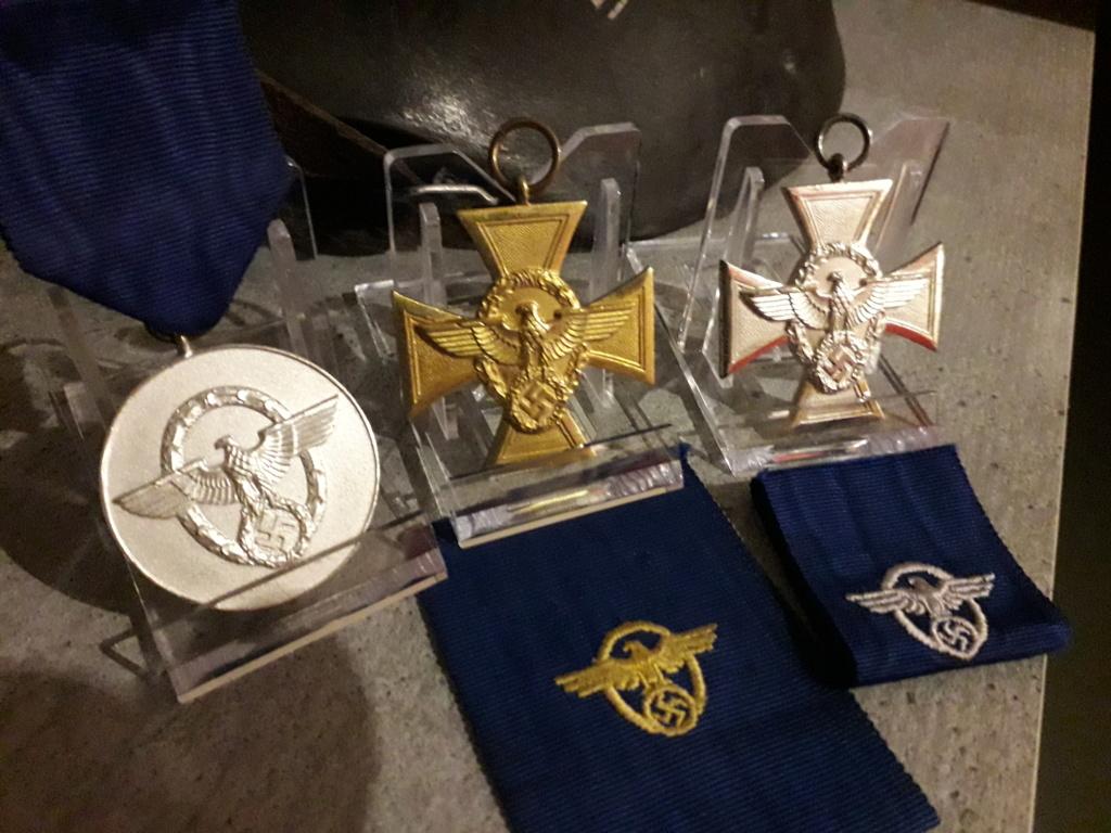 Mes 3 médailles de service dans la Polizei 20180916